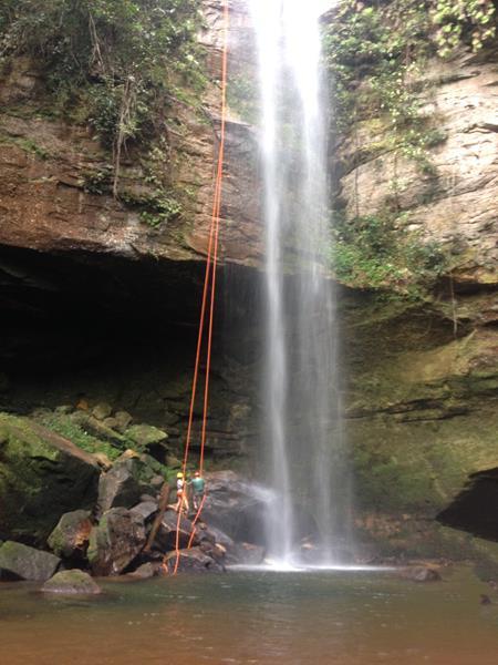 rapel cachoeira da roncadeira