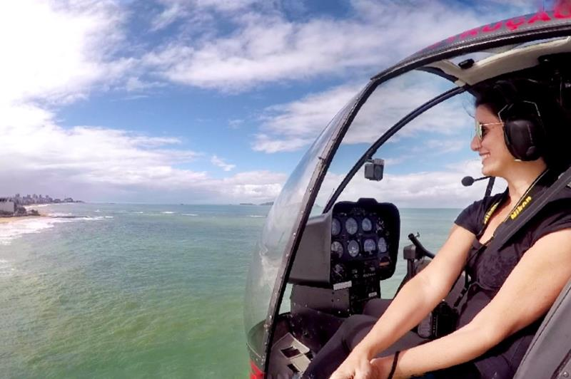 Voo helicóptero em Macaé