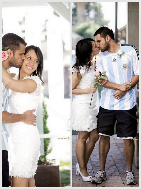 casal posando para fotos no casamento na chapel of the flowers