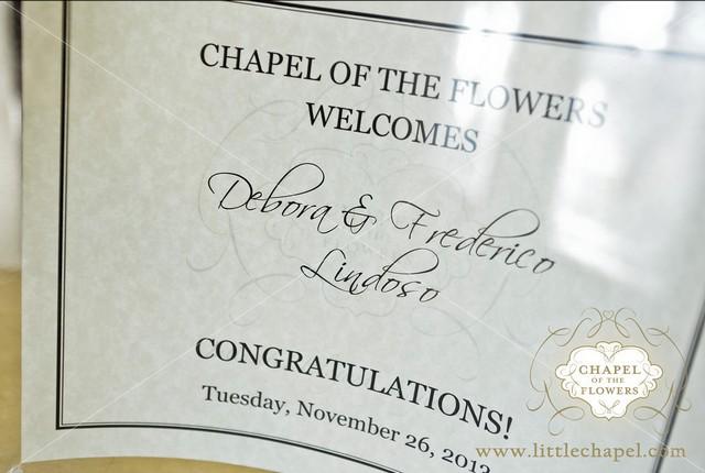 certificado do casamento em las vegas na chapel of the flowers