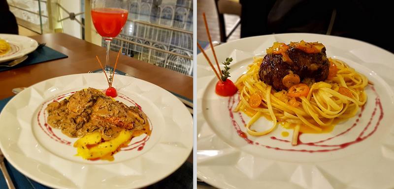 prato principal do jantar no Catanzaro ristorante