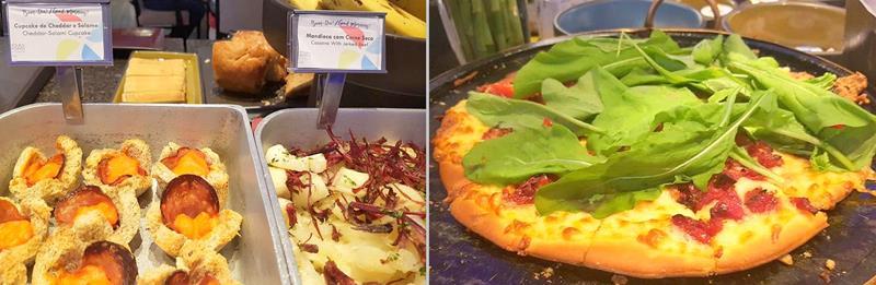 Pizza e outros pratos quentes como opção