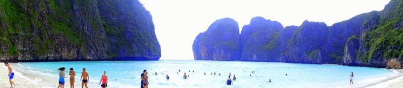 maya bay foto panoramica