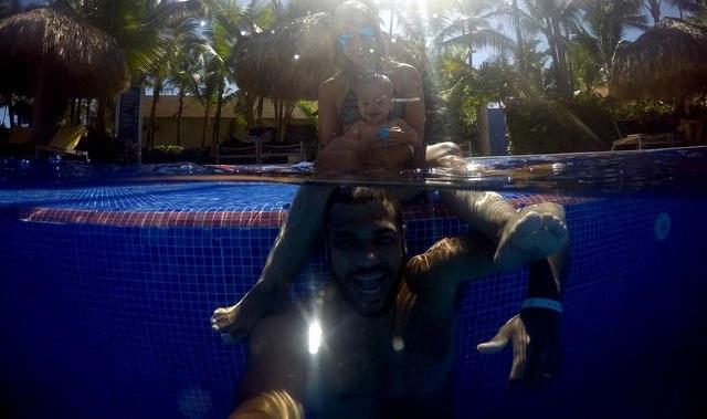 Punta Cana com Crianças na Piscina