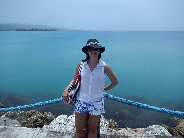 mulher mar azul