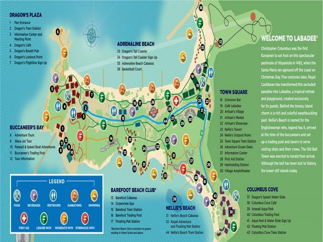 Mapa labadee praias atividades