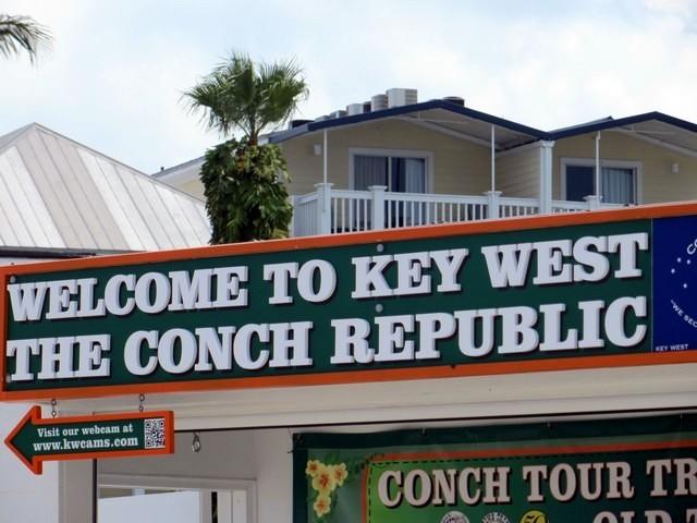 placa bem vindo a key west the conch republic