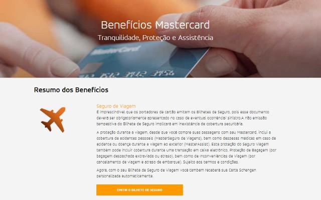 site de emissão do seguro viagem da mastercard