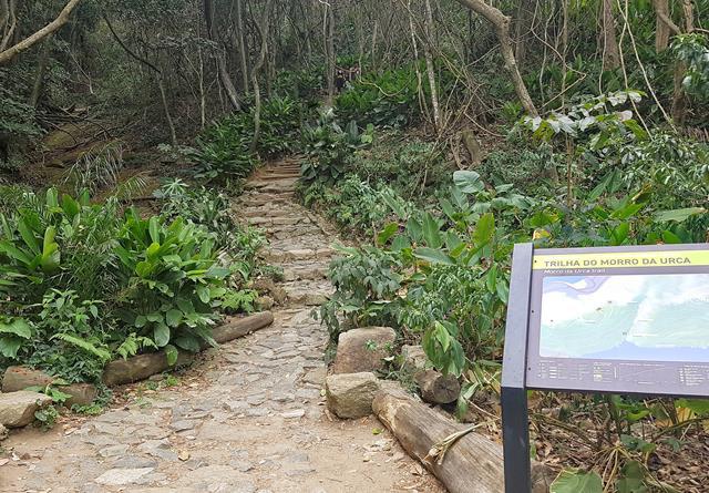 Entrada trilha morro da urca