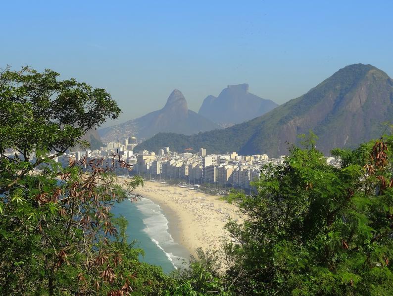praia de copacabana vista do forte do leme