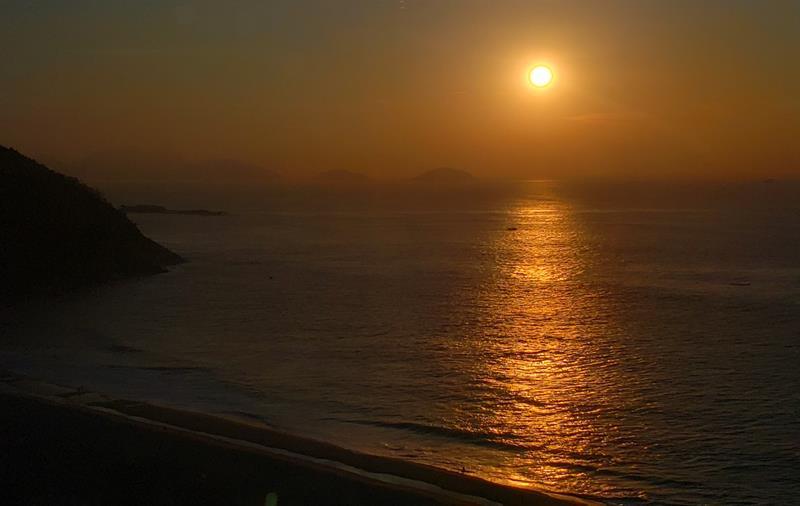 nascer do sol hilton copacabana