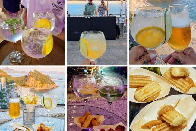 bebidas e comidas fiesta latina