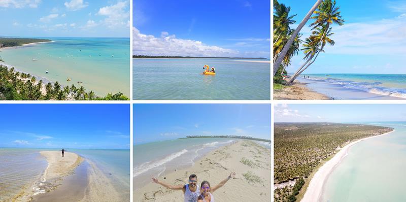 praias litoral norte de alagoas