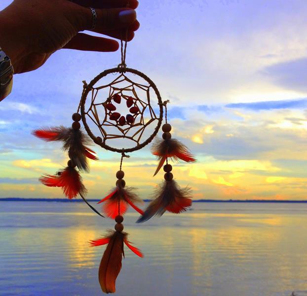 por do sol na tribo indígena