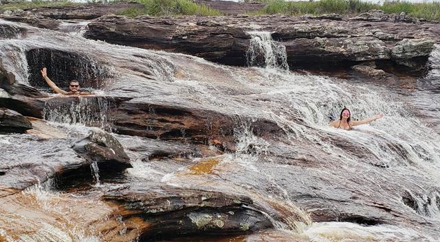 Quedas da cachoeira do lajeado