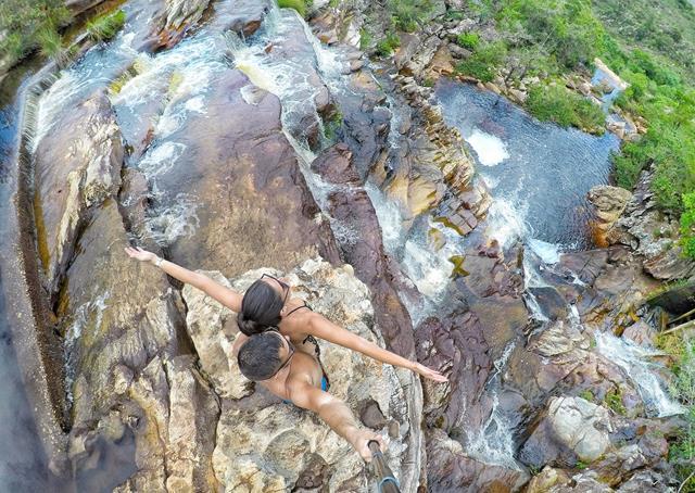 parte alta da cachoeira do moinho