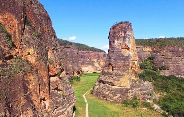 Imagem aerea dos canions do Viana
