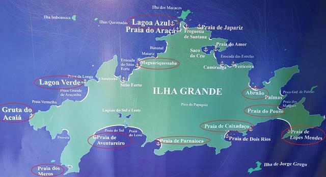 Mapa Final de Semana em Ilha Grande