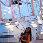 roda-gigante do rio com chuva
