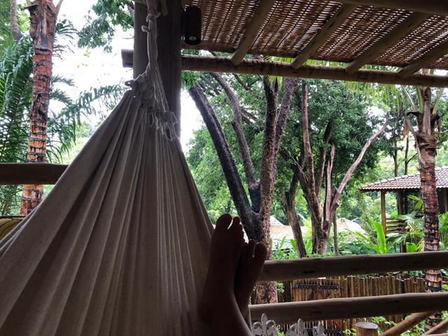 Relaxando em trancoso com chuva