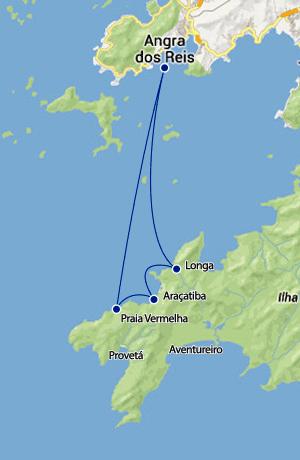 Mapa Travessia Angra Araçatiba