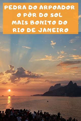 Por do sol no arpoador salve no pinterest