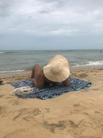 praia de trancoso com chuva