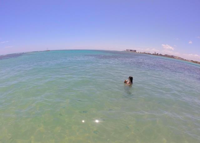 Relaxando nas piscinas de pajucara