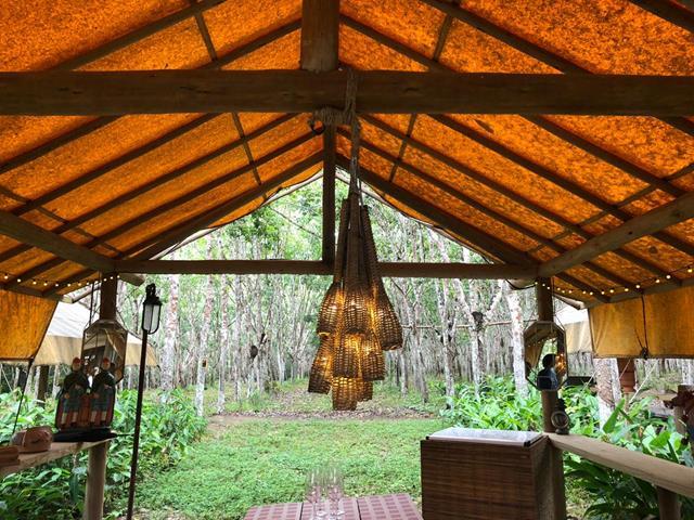 Restaurante Floresta trancoso com chuva