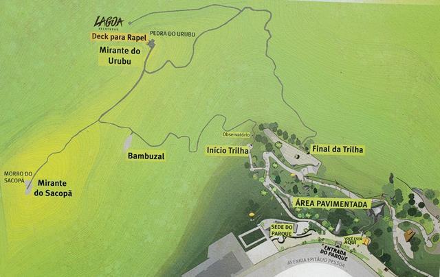Mapa trilhas parque da catacumba
