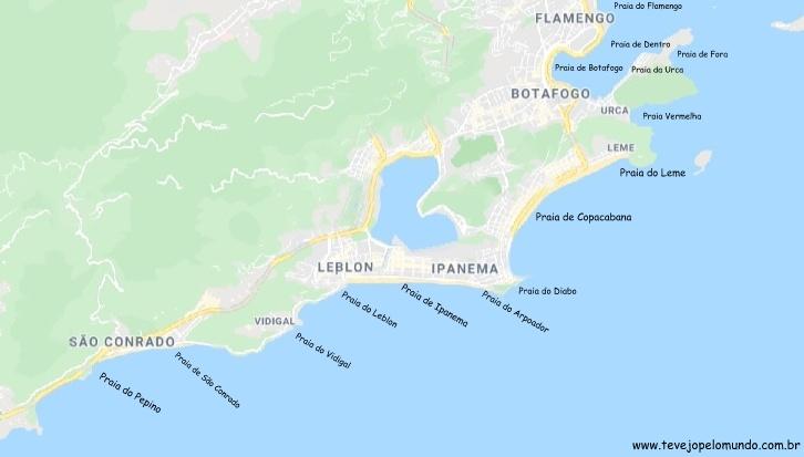 Praias do Rio de Janeiro Zona sul