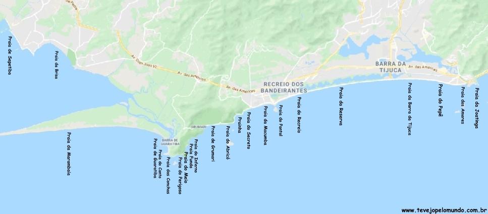 Praias da zona oeste do Rio de Janeiro