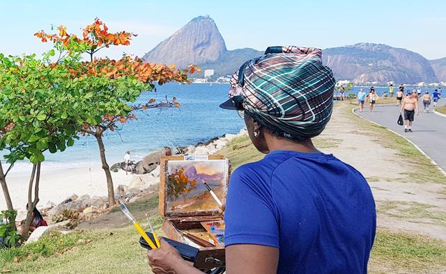 Pintura na praia do flamengo