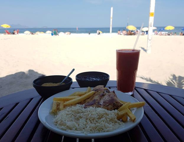 Almoço quisque em Copacabana