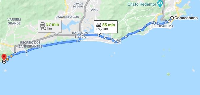 Como chegar na praia do Abrico