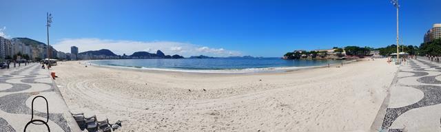Extensão praia de Copacabana