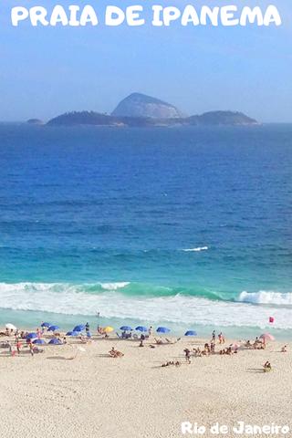Praia de Ipanema no Pinterest