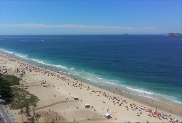 praia de ipanema vista do alto