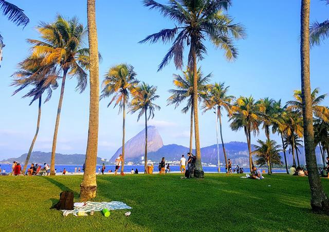 Area verde da praia do Flamengo