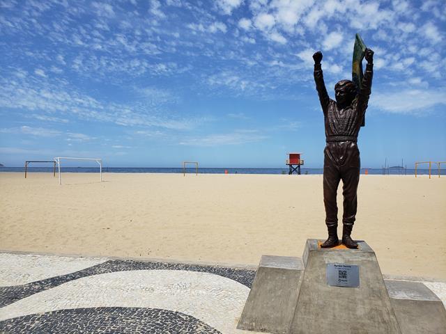 Ayrton Senna em Copacabana