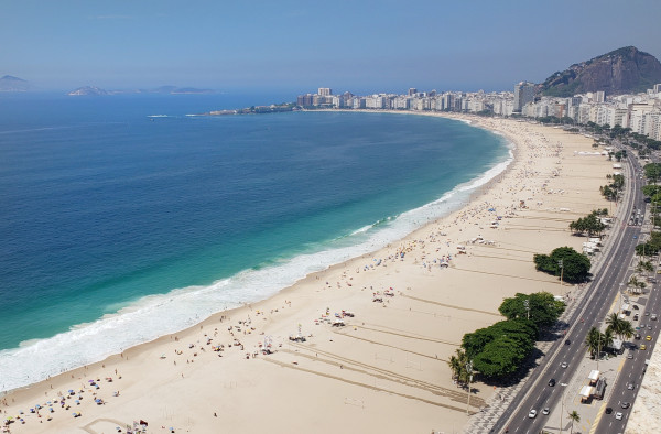 Praia de Copacabana te vejo pelo mundo