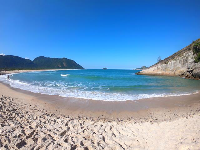 Praia de Grumari sem ondas