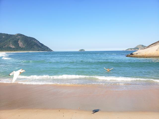 Praia super preservada