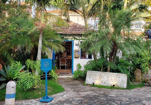 Entrada hotel Vila da Santa