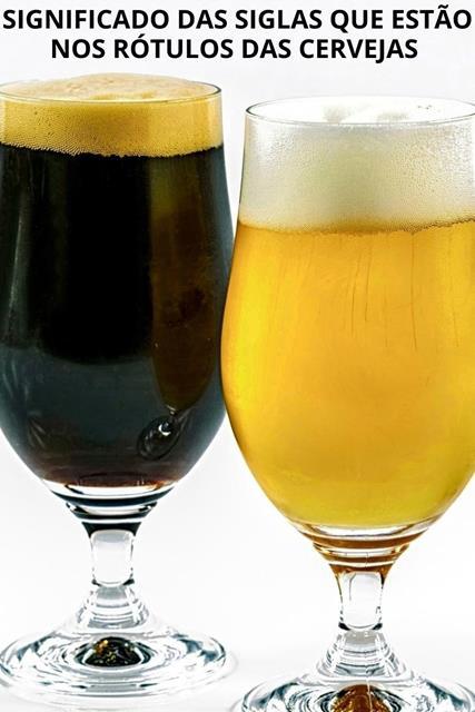 Significado siglas rótulos cerveja