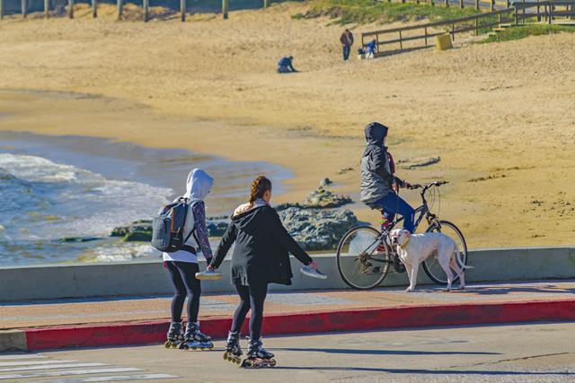De bicicleta em Punta del Leste