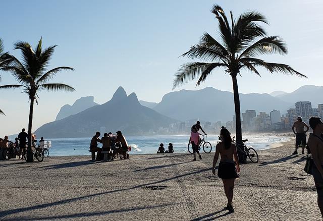 De bike no Rio de Janeiro