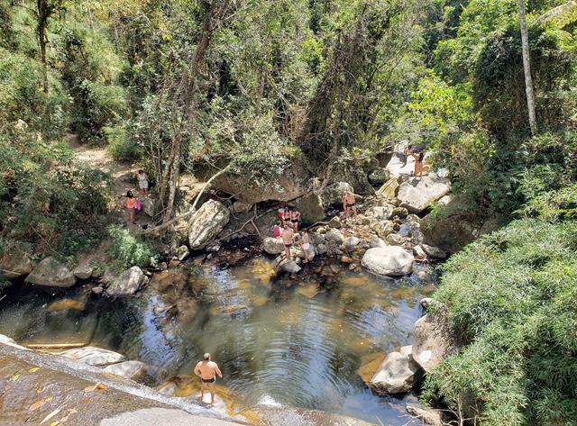 Primeiro poco cachoeira da Macumba Itaipava