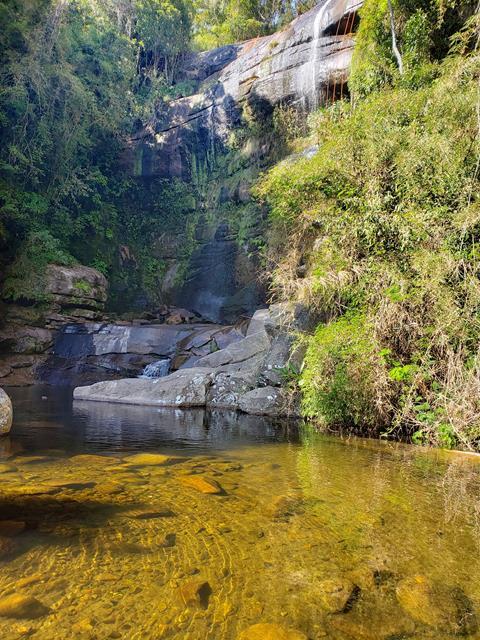 Queda principal da cachoeira da Macumba